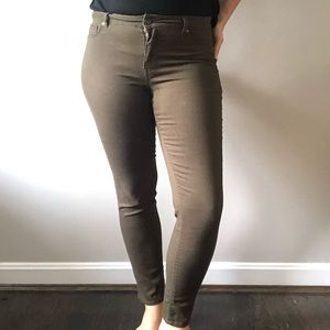 Army Green Skinny Jeans Size 13